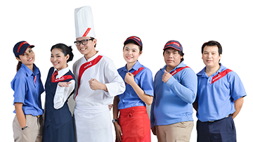 Group of Sodexo employees in uniform
